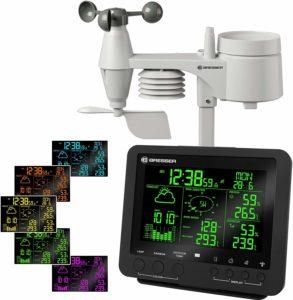 Bresser 5-en-1 Centre météo Pro avec écran en 256 couleurs