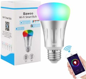 Ampoule Connectée LED E27 Ampoule WiFi Intelligente Compatible Avec Alexa Google Home