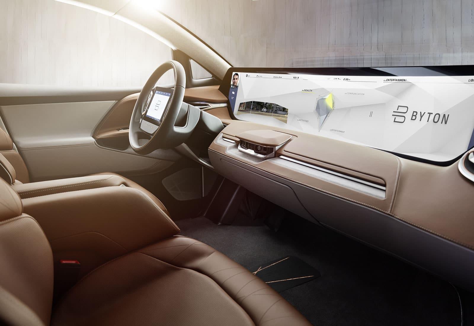 voiture intelligente byton ces 2018