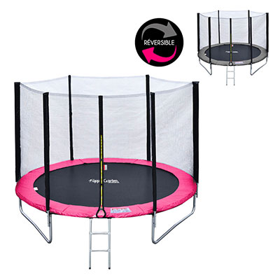 Happy Garden Pack Premium Trampoline 245cm réversible