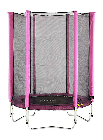 Plum - Trampoline Rose Junior avec enclos 140cm