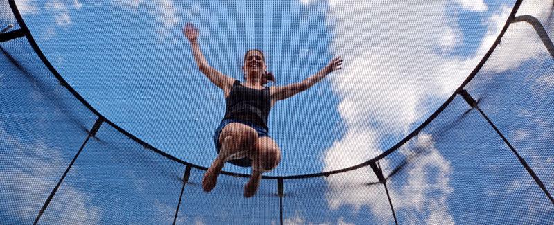 trampoline jardin adulte