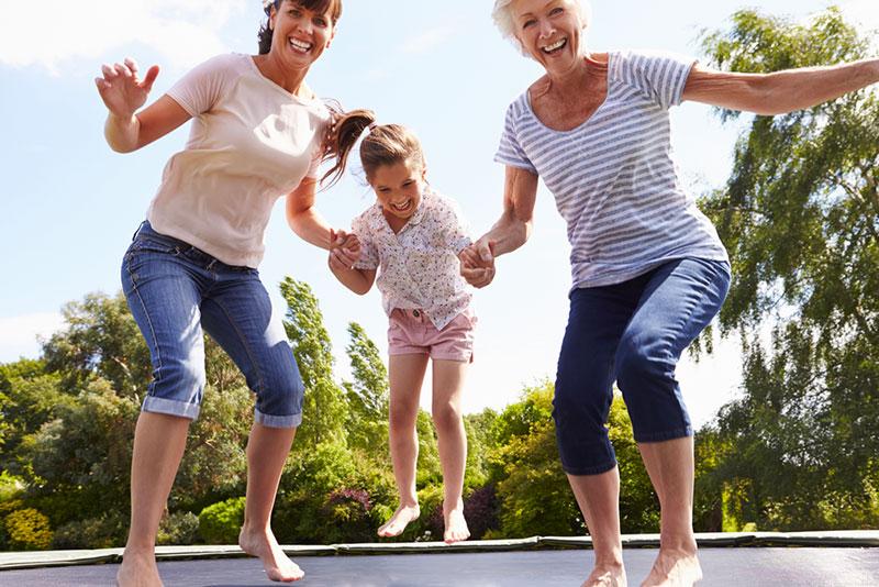trampoline pour adultes